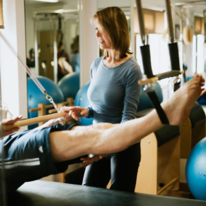 Private pilates class at Hinchley Wood Pilates Studio